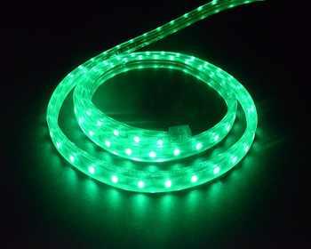 5050 Flexible LED Strip light AC220V 60leds/m Waterproof IP67 Led Tape green LED Light With EU Power Plug 50 meter