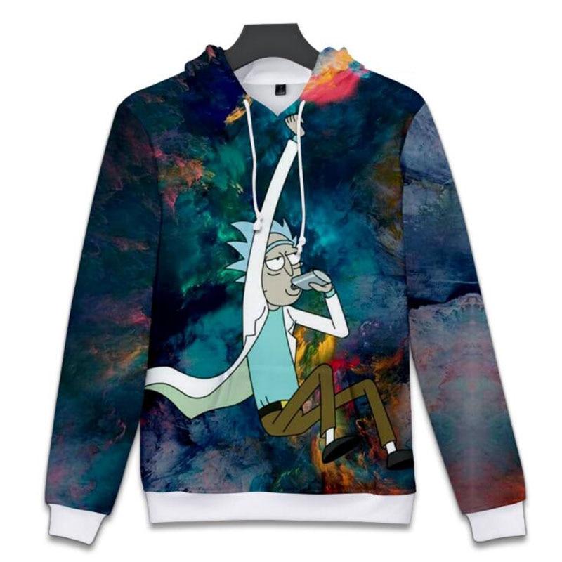 Hip Hop Fashion Brand Clothing Cartoon rick and morty Print 3D Hoodie Sweatshirt Women Men Tracksuits Outerwear Sudaderas Hombre