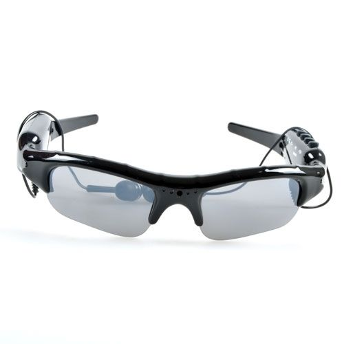 Sunglasses with mp3 player and camera