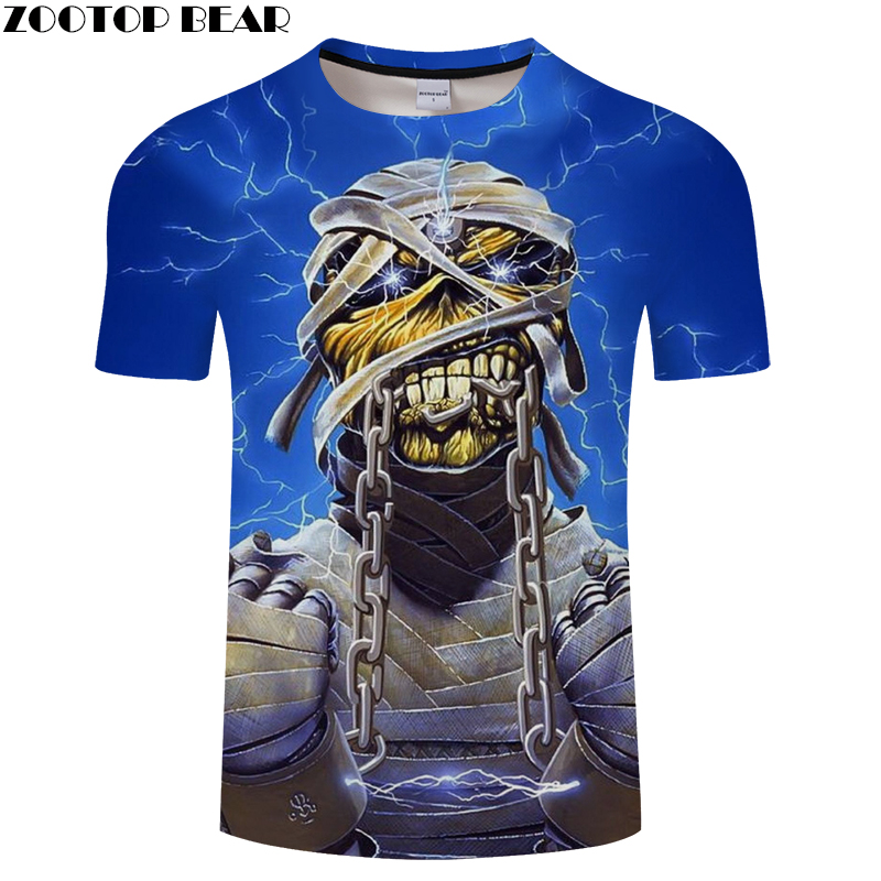 Imprison Iron Skull 3D Print t shirt Men Women tshirt Summer Funny Short Sleeve O-neck Tops&Tee Streetwear Drop Ship ZOOTOP BEAR