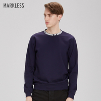 Markless 2017 Men Round Neck Sweatshirts Men S Collar Printing Casual Shirt Male Youth Sportswear Spring