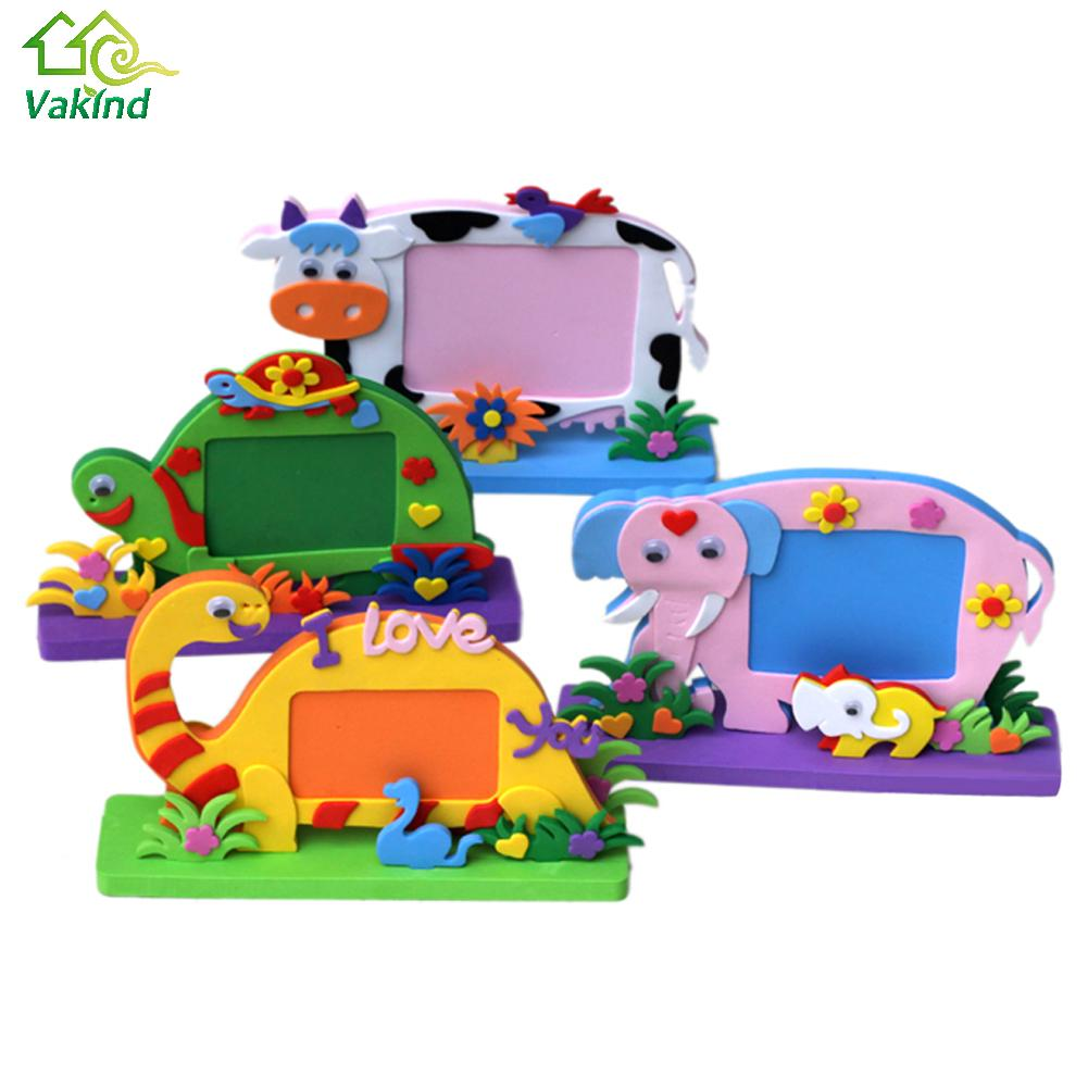 Eva foam cartoon photo frame for kids child diy 3d stickers photo eva foam cartoon photo frame for kids child diy 3d stickers photo frame handmade block toy paste frame craft gifts in frame from home garden on jeuxipadfo Image collections