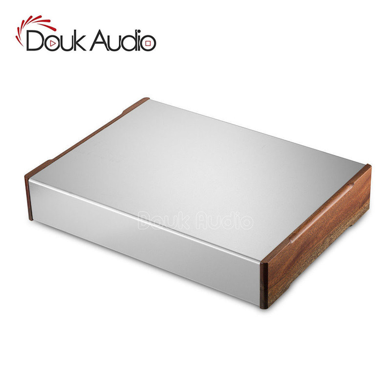 Nobsound Aluminum Body Wooden Panel Chassis Power Amplifier Case Box DIY Enclosure House nobsound hi end audio noise power filter ac line conditioner power purifier universal sockets full aluminum chassis