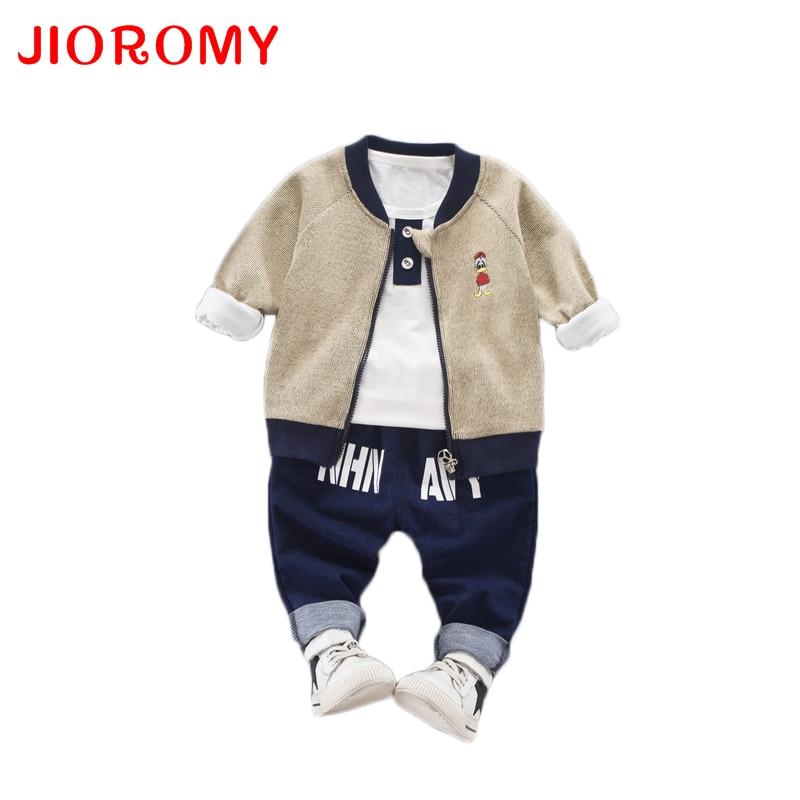 JIOROMY 2019 Çocuk giyim Güz Karikatür Baskı Fermuar Ceket + - Çocuk Giyim - Fotoğraf 1