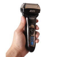 Quick Charge Reciprocating Kemei Electric Shaver Razor 4 Blade head Beard Shaving Men Female Rechargeable Facial Trimmer