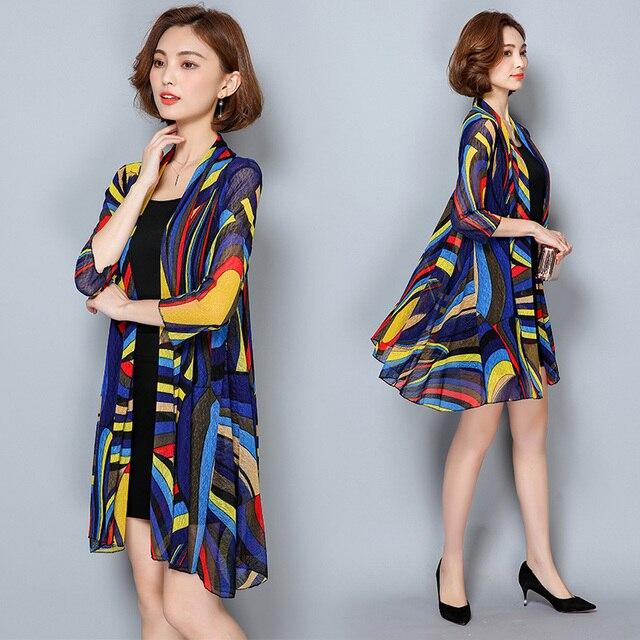 TingYiLi Summer Cardigan Women Beach Cardigan Long Kimono Cardigan 2