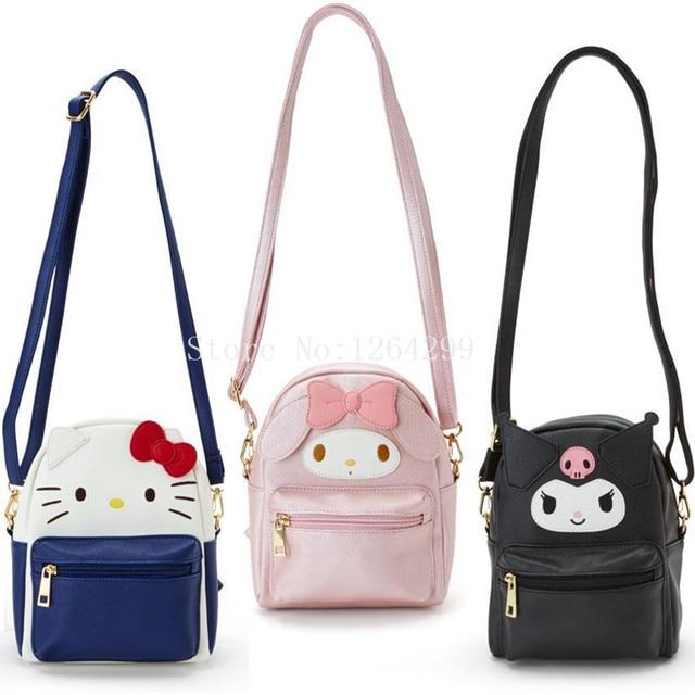 90dd04fef New Fashion Hello Kitty My Melody Kuromi Girls Mini PU Messenger Bags Kids  For Children