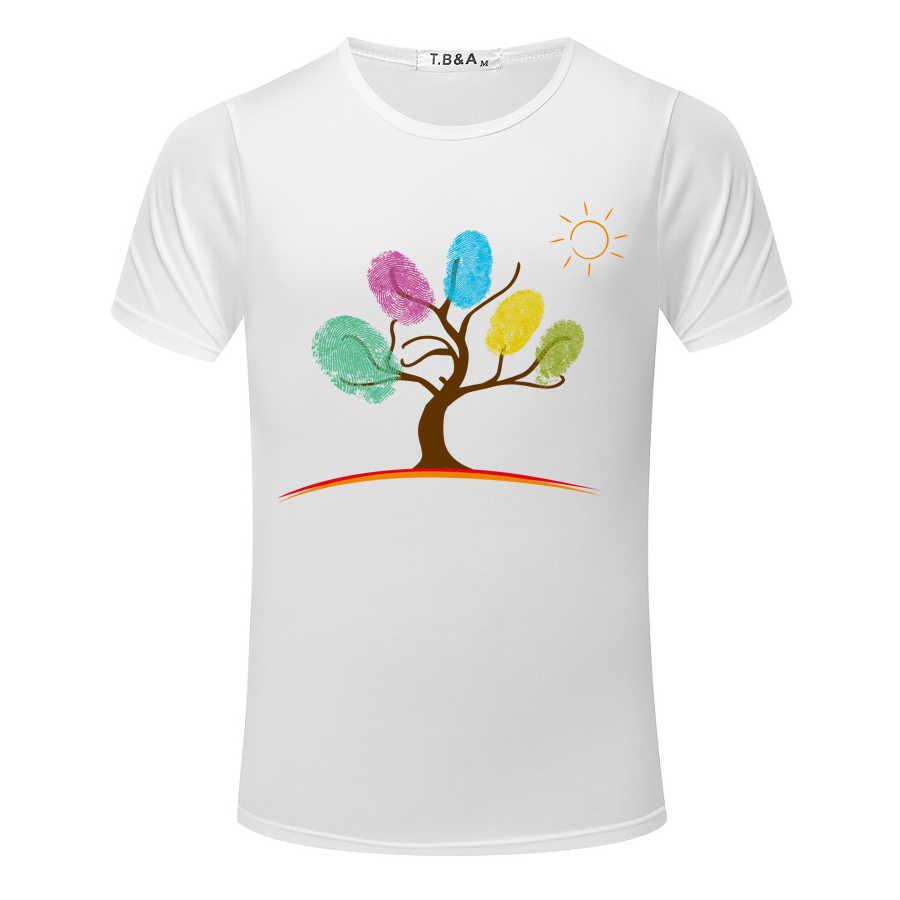 Мужская футболка модная новая абстрактная 3D картина маслом Мужская рубашка короткий рукав o-образным вырезом Топы Футболки Повседневная мужская футболка белая TX506-R