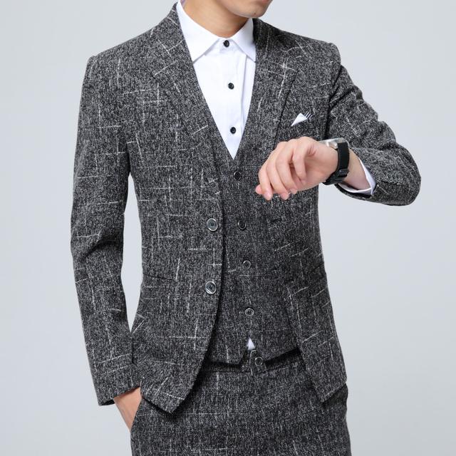 HOT 2016 Nova Moda Outono inverno Homens Casaco Slim Fit jaqueta Blazer de Lã terno Terno Jaqueta Casual Masculino blazer masculino