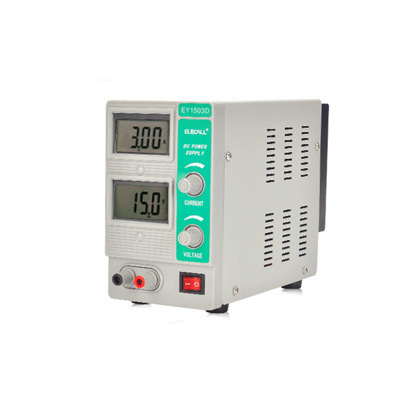Switching Regulated Adjustable DC Power Supply Single Channel 15V 3A Variable Digital Display SMPS EY1503DSwitching Regulated Adjustable DC Power Supply Single Channel 15V 3A Variable Digital Display SMPS EY1503D