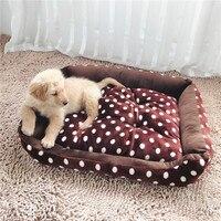 Pet Dog Mat House Dot Print Soft Coral Fleece Winter Warming Puppy House Pet Cats Nest Mat 3 Sizes Available Goods for Dogs
