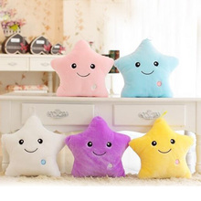 2018  Colorful Body Pillow Star Glow LED Luminous Light Cushion Soft Relax Gift