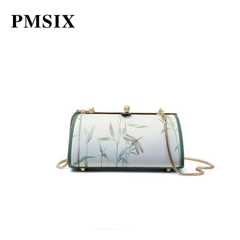 De Floral Pmsix Sac Green Hasp Mode Femmes À Impression Bretelles Bandoulière Élégant Créateur Pour Main Vintage Femme Longue 2019 qErE0