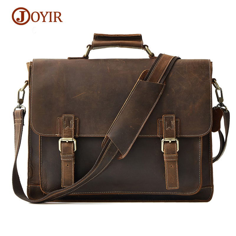 JOYIR 2017 Retro Men's Briefcase Business Genuine Leather Messenger Bags Casual Travel Man Handbag Shoulder Bag Famous Brand фильтр угольный cf 101м
