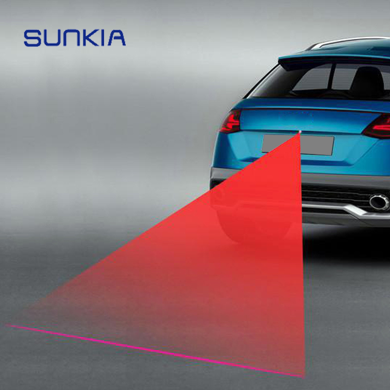 SUNKIA New Patterns Anti Collision Rear-end Laser Tail Fog Light Car Brake Parking Lamp Rearing Warning Light Auto Styling