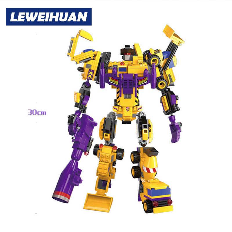 Urządzenie inżynieryjne 7 w 1 klocki deformacji Robot klocki zabawki dla dzieci prezenty dla chłopców kompatybilne klocki lego