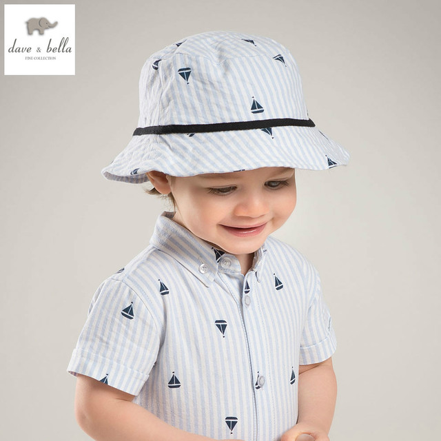 baa2c0bf932d6 DB5873-H dave bella summer baby boys blue white stripes hat boys handsome hat  boys bucket hat