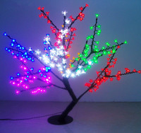 Free ship LED Artificial Cherry Blossom Tree Home Wedding Christmas brithday Decoration 336 LEDs 31.5=80cm 6 Colors waterproof