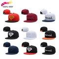 Diamantes snapback boné de beisebol unisex letras bordadas bonés ajustáveis plana hip hop chapéus para homens osso gorras casquette
