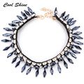 New Arrival Long Silk Chain Acrylic Flower Pendant & Necklace ZA Statement Necklace Brand Fashion Jewelry Vintage Necklace