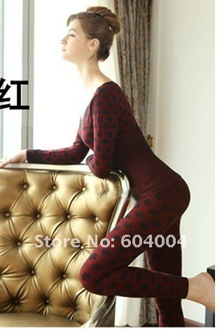 2011 Round Brought Bud Silk Cotton Jerseys Elastic Body Jacquard Model Body Underwear Lady Warm Underwear
