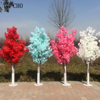 Artificial Flowers Cherry Blossoms Branches Tree Road Leads Wedding Decoration Runner Aisle Column T Station Centerpieces Supply