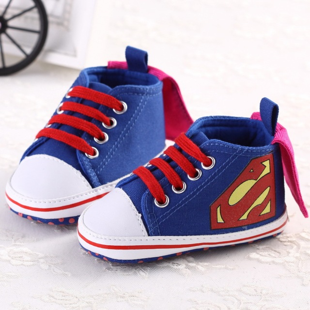 a04295a28524 2Colors 3Size Newborn Baby Girl Boy First Walkers Shoes Infant Toddler  Spring Autumn Cute Superman Soft
