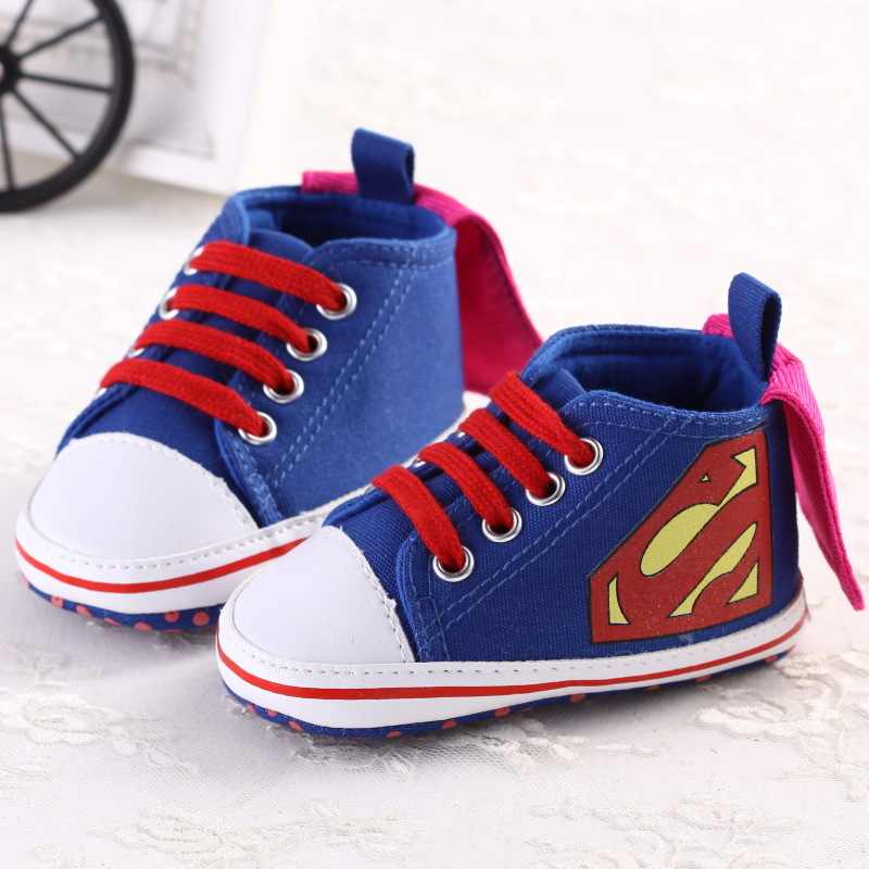 f566c0446c4d 2Colors 3Size Newborn Baby Girl Boy First Walkers Shoes Infant Toddler  Spring Autumn Cute Superman Soft