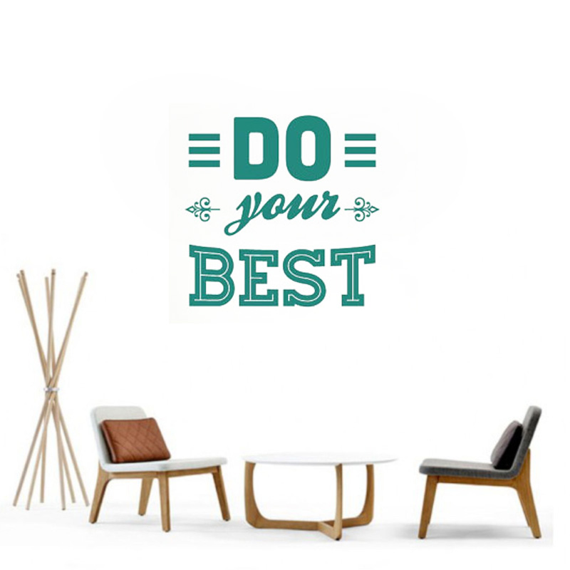 Do Your Best Wall Sticker Quotes Wall Decals For Boys&Girls Bedroom Motivational words Office Wall Decor Art Mural Wallpaper L89