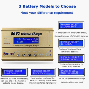 Image 5 - HTRC ImaxB6 V2 80W LiPoแบตเตอรี่LED Balance Discharger 6A DC11 18VสำหรับLipo Li Ion LiFe NiCd NiMH LiHV PB Smartแบตเตอรี่