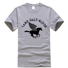 784c504d1 Percy Jackson T Shirt Camp Half Blood T-Shirt Male Summer Tee Shirt Fun 4xl