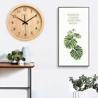 Digital Clock Wall Clock Imitation Wood Grain 12inch Digital Display Silent Quartz Clock Circular Hotel Bedroom Modern Fashion