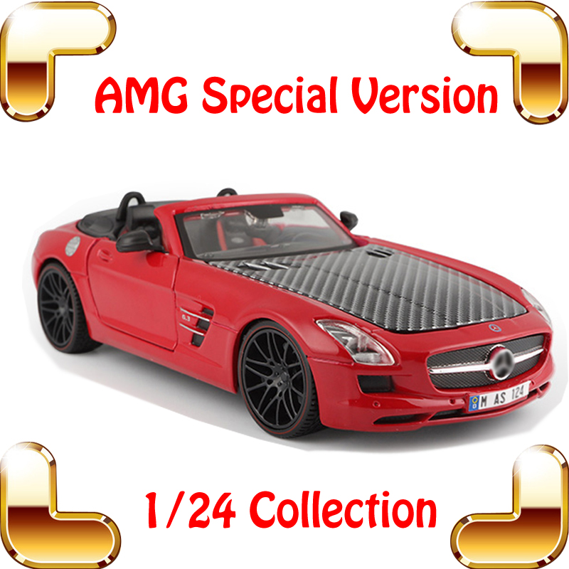 New Year Gift AMG 1/24 Model Metal Car Collection Decoration Alloy Toys Vehicle Die-cast Roadster Mini Cars Scale Models maisto jeep wrangler rubicon fire engine 1 18 scale alloy model metal diecast car toys high quality collection kids toys gift