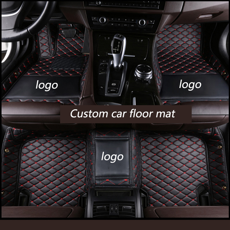 kalaisike Custom car floor mats for Cadillac all models SRX CTS Escalade ATS SLS CT6 XT5 CT6 ATSL XTS car styling accessories