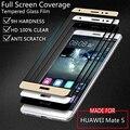 Huawei mate s cubierta de la película del protector de pantalla de vidrio templado colorful para huawei mates mate s 5.5 pulgadas blanco negro oro