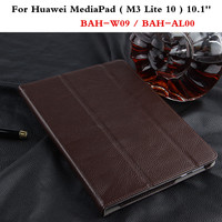 Luxury Cover Slim Protective Book Genuine Leather Business Case For Huawei MediaPad M3 Lite 10 BAH