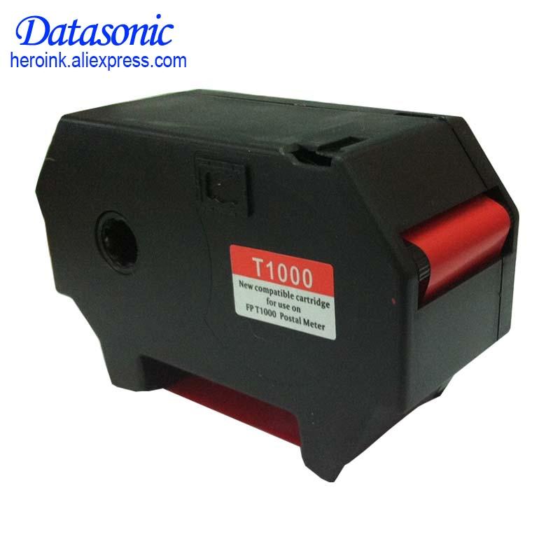 Compatible Francotyp Postalia T1000 Optimail Red Fluorescent Cassettes 3 Per Box Replaces OEM Part 51 0019