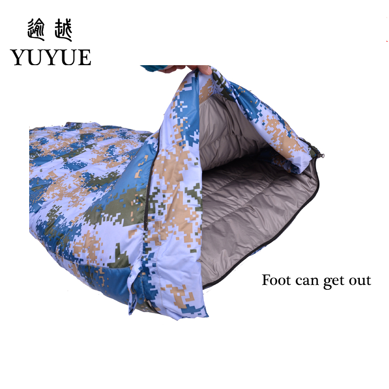 2018 Thickened Outdoor Military Sleeping Bag Down For Outdoor Camping Tent Camouflage Sleeping Bag Envelope Sleeping Bags 4