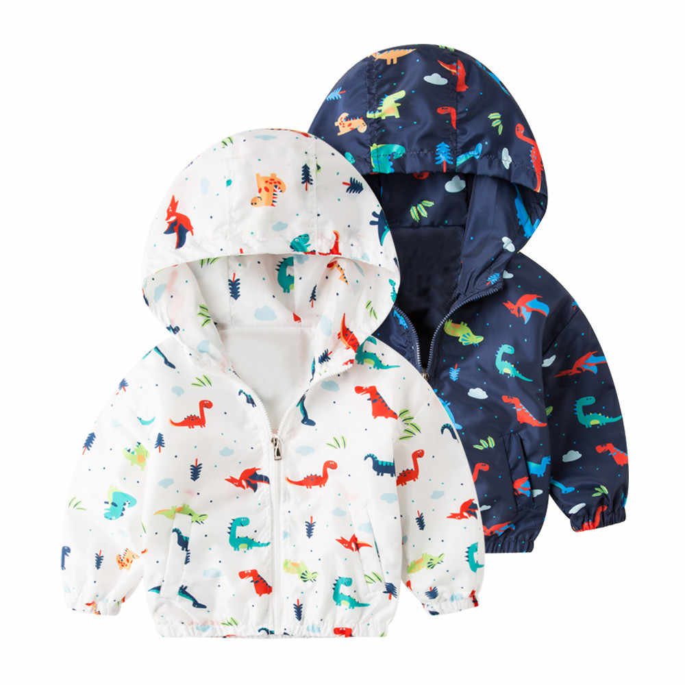 9b761555d JacketDinosaur Baby Outerwear Coat Boys Girls Kids Children Hooded Clothing  Wholesale&Dropshipping Free delivery