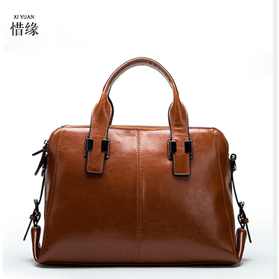 Luxury Genuine Leather Handbags For Women Tote Bag Ladies Messenger Bags Fashion Designer Boston Bag Women