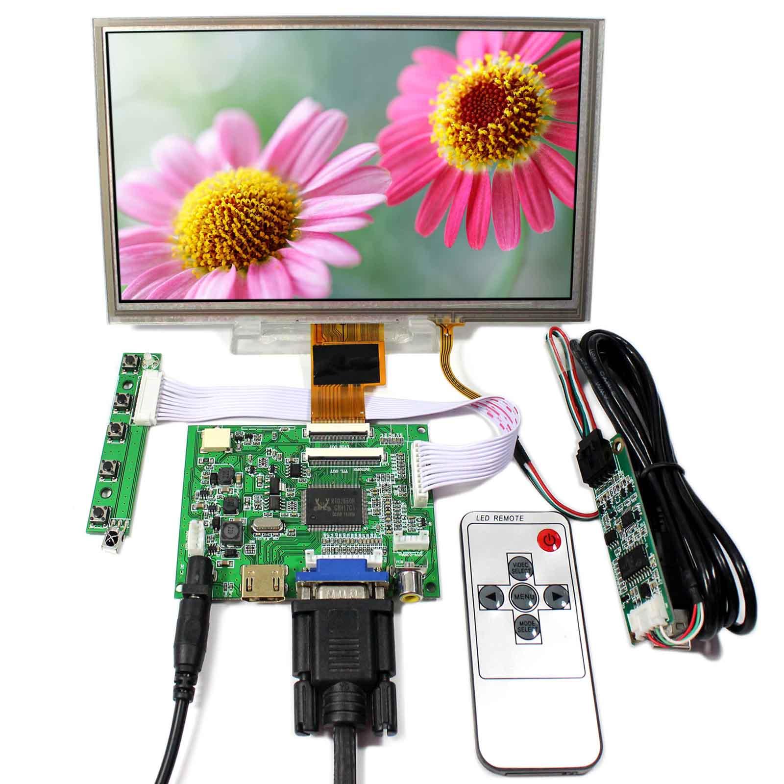HDMI+VGA+2AV LCD Driver Board VS-TY2662-V5 8inch 1024x600 ZJ080NA-08A LCD With Touch Panel цена и фото