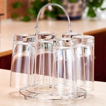 new year Free Shipping Shelf cup holder water cup rack creative glass drain rack kitchen supplies storage rack