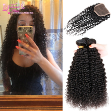 Queen Love Hair Malaysian Virgin Curly Hair With Closure 7a Stema Hair Company Afro Kinky Curly Bundles With Closure 4 Bundles