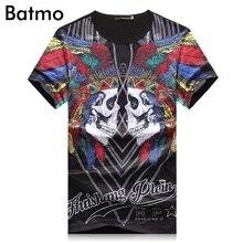 2017 neue ankunft sommer hohe qualität pirnted schädel Mode lässig Oansatz T-shirt männer, männer T-shirt, größe M. L. XL. XXL. XXXL.4XL