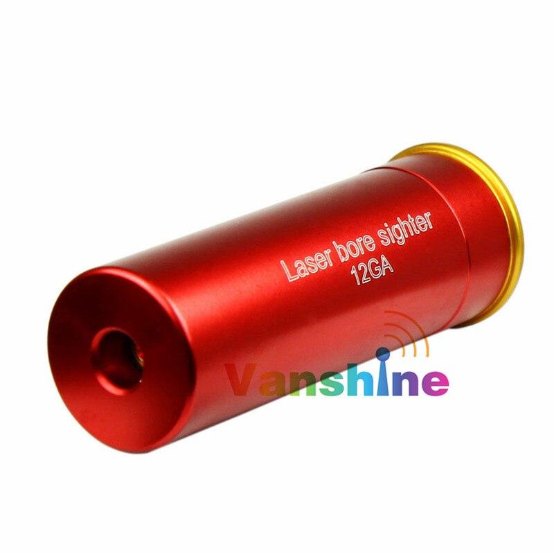 12GA 12 Cartucho Calibre Laser vermelho Furo Sighter Boresighter A Laser Sight Boresight Caça Espingarda Arma