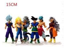 NEW Hot 6pcs/set 15cm Dragon Ball Z Super Saiyan vegeta Son Goku Kakarotto PVC Action Figure toys Christmas gift toy