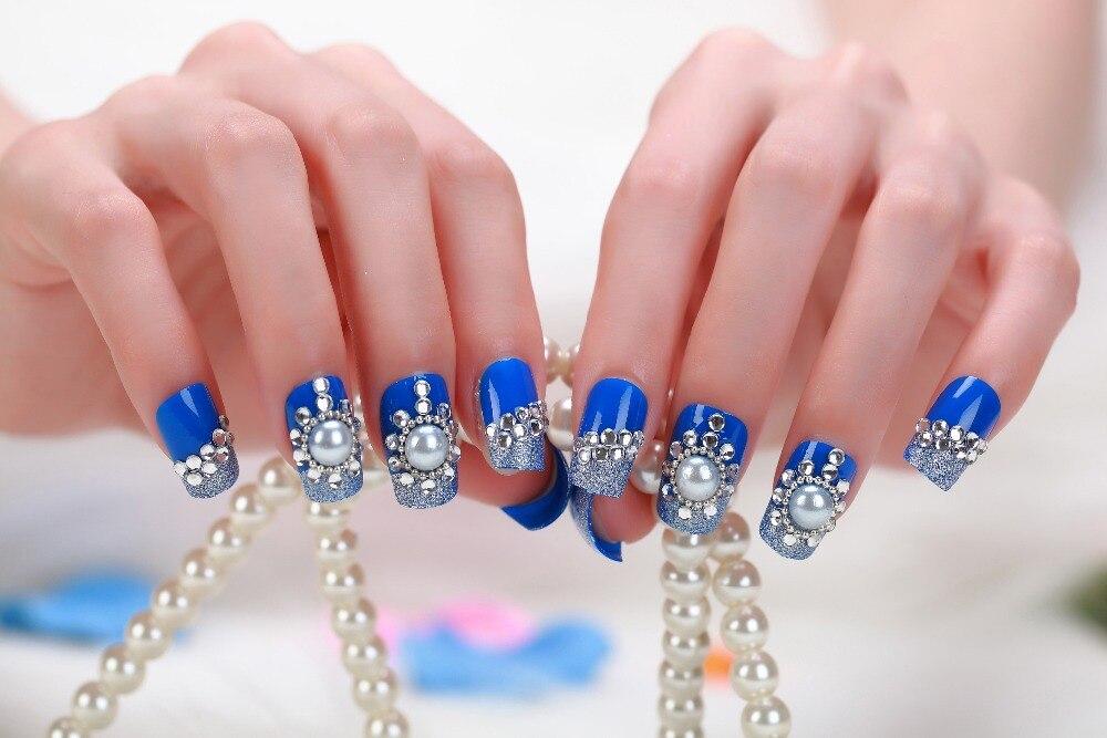 CV2 2015 fake nails french acrylic acrylic tips false nails ...