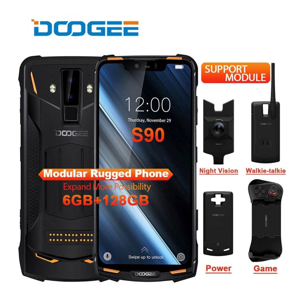 IP68/IP69K DOOGEE S90 téléphone Mobile robuste modulaire 6.18 pouces affichage 5050 mAh Helio P60 Octa Core 6 GB 128 GB Android 8.1 16.0 M Cam