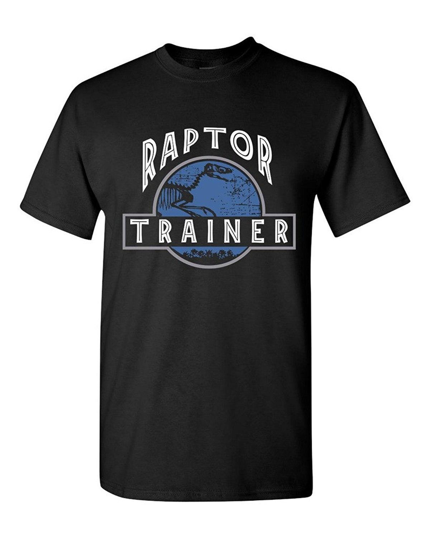 100% Cotton Short Sleeve O Neck Raptor Trainer Dinosaur Movie Funny Humor Dt Adult T Shirt Tee