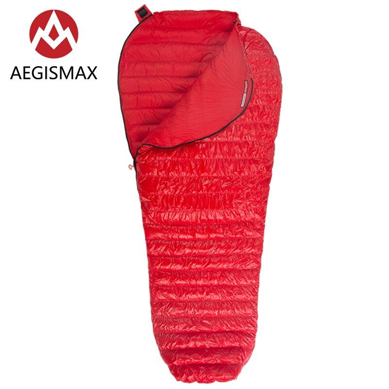 Aegismax nouveau Mini mise à niveau sac de couchage 95% duvet d'oie blanche épissure momie ultra-léger randonnée Camping 800 FP Nano Nano2 rouge bleu - 3